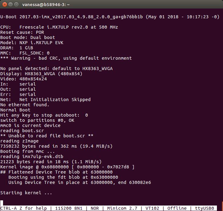 "i MX 7ULP possible fix for U-Boot hang on ""Starting kernel"" - i"